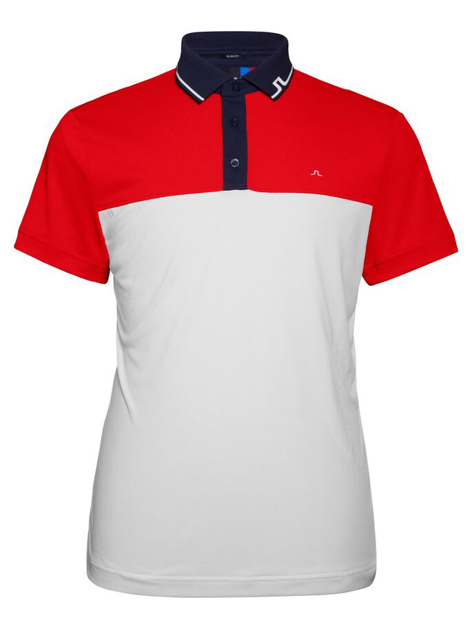 JOHAN SLIM TX TOURQUE- POLOSHIRT, Racing Red, large