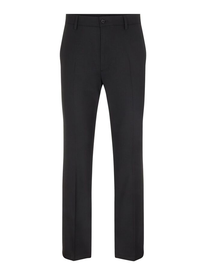 CHET TWILL BROEK, Black, large