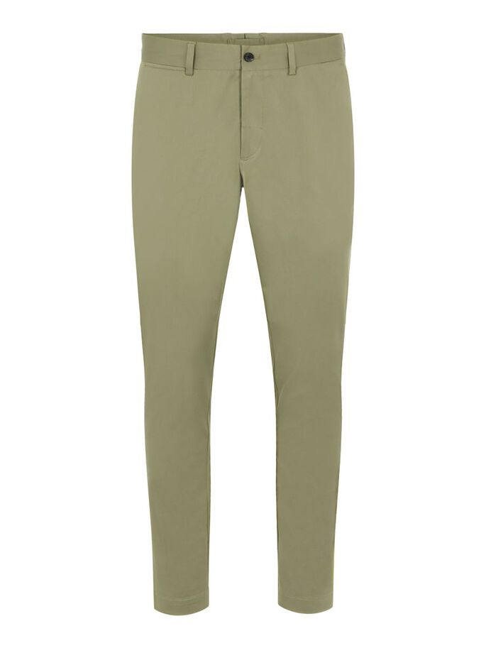 CHAZE SATIN TROUSERS, Lake Green, large
