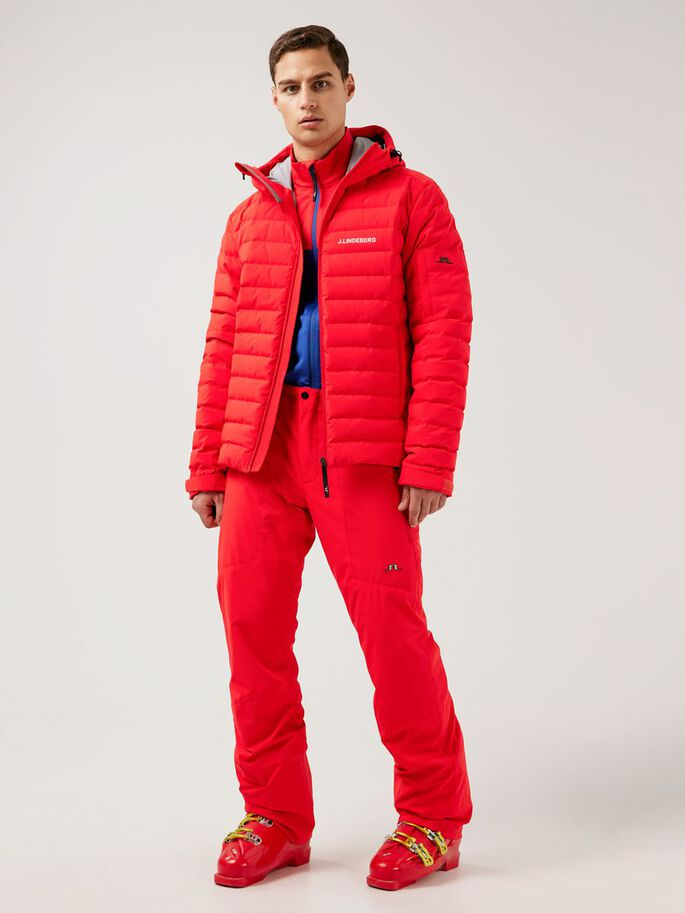 THERMIC DOWN SKI JACKET, Racing Red, large