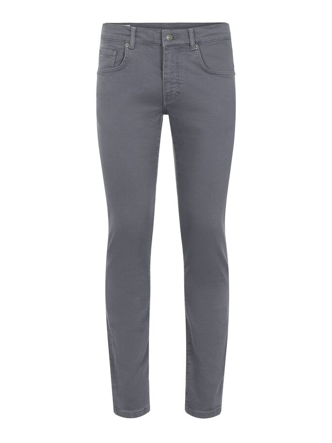 JAY SOLID STRETCH JEANS, Dark Grey, large