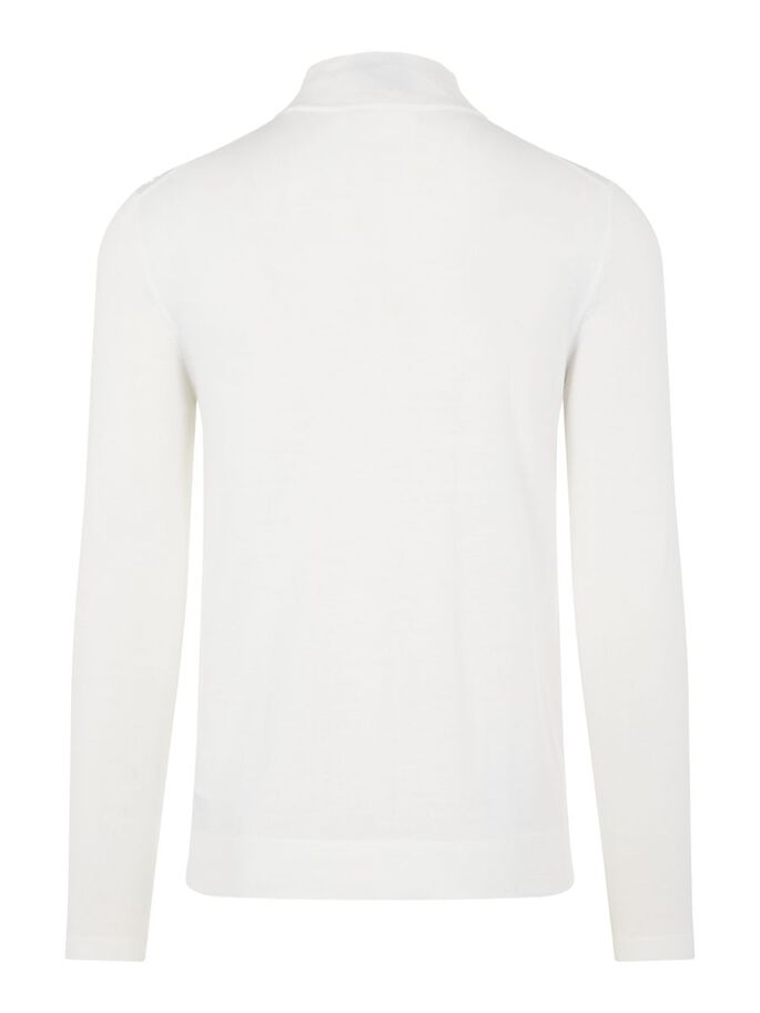 NEAL SILK WOOL MIX ROLLKRAGENPULLOVER, Cloud White, large