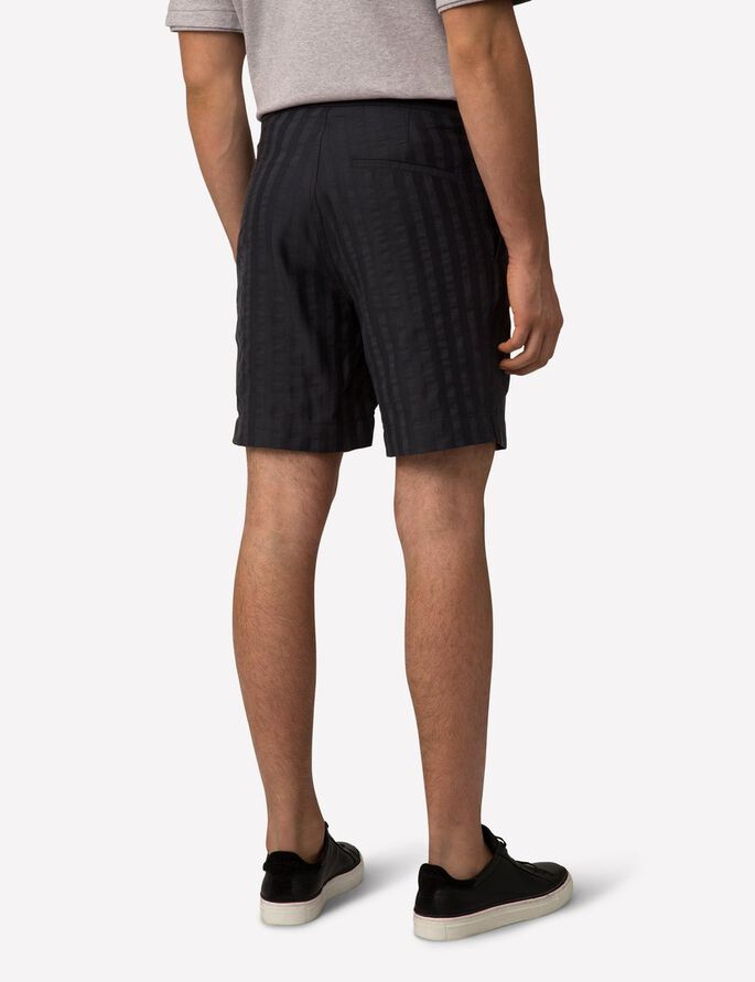 CROPPER FLUID STRIPE SHORTS, Midnight Melange, large