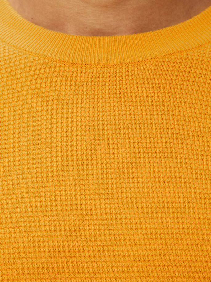 ANDY CREW NECK SWEATER, Golden Orange, large