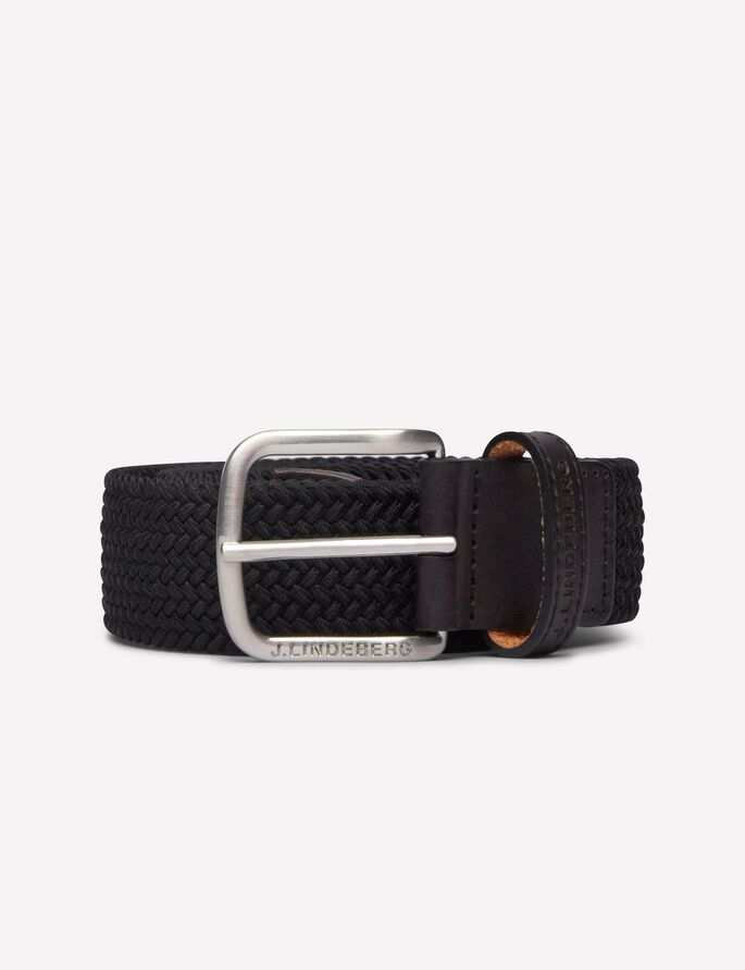 CHAPPER 35 SOLID ELASTIC BRAID BELT, Black, large
